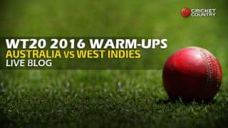 WI 162/7 in 20 Overs | Live Cricket Score, Australia vs West Indies, ICC World T20 2016, AUS vs WI, warm-up match at Eden Gardens, Kolkata: WI win by 3 wickets