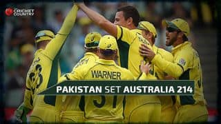 Australia rout Pakistan for 213 in ICC Cricket World Cup 2015 Quarter-Final 3 at Adelaide