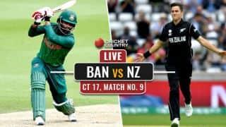 LIVE Cricket Score, Bangladesh vs New Zealand, ICC Champions Trophy 2017: Bangladesh knockout New Zealand