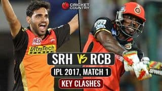 SRH vs RCB, IPL 2017, Match 1: Key clashes from IPL 10 opener