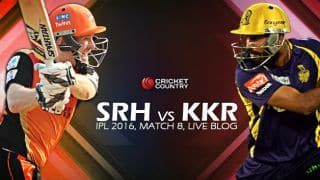 KKR 143/2,18.2 overs, LIVE Cricket Score Sunrisers Hyderabad (SRH) vs Kolkata Knight Riders (KKR), IPL 2016, Match 8: KKR win by 8 wickets!