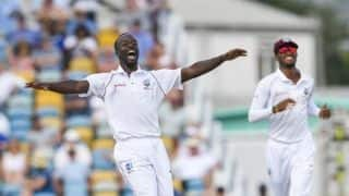 England all out for 77 against West Indies