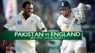 ENG 4/0 │ Live Cricket Score Pakistan vs England 2015, 3rd Test at Sharjah, Day 1: Visitors finish on top of opening day