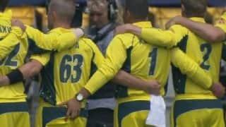 Usman Khawaja annoys debutant Adam Zampa during Australian national anthem, during 3rd ODI vs New Zealand