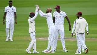 ENG vs WI 2nd Test Report: Roston Chase Removes Rory Burns at Stroke of Lunch on Day 1