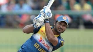 Kumar Sangakkara dismissed for 33