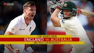 Live Cricket Score England vs Australia, The Ashes 2015, 3rd Test at Edgbaston, Day 1, ENG 133/3 in 29 overs: England in command at stumps