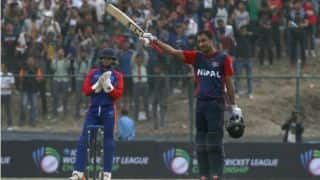 Nepal beat Namibia by 3 wickets as skipper Paras Khadka scores maiden A-list ton