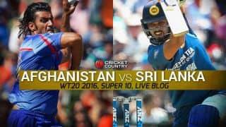 SL 155/4   Live Cricket Score, Sri Lanka vs Afghanistan, T20 World Cup 2016 SL vs AFG, 16th T20 Match at Kolkata: Dilshan guides Sri Lanka to victory
