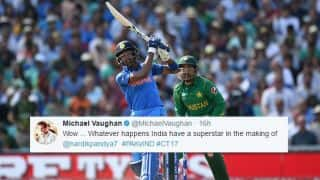CT 17 Final: Pandya sets Twitter abuzz with fastest fifty in ICC tournament finals, mix-up with Jadeja