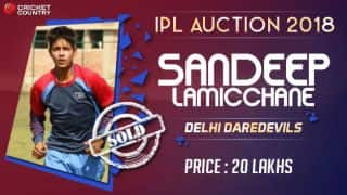IPL 2018: Nepal's Sandeep Lamichhane sold to Delhi Daredevils for INR 20 Lakh