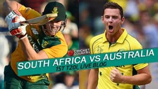 SA 158/5 in 19.2 overs | Live Cricket Score South Africa vs Australia, 1st T20I at Durban: SA win by 3 wickets