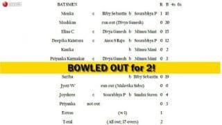 Nagaland Women U-19 all out for 2, Kerala win in 1 ball!