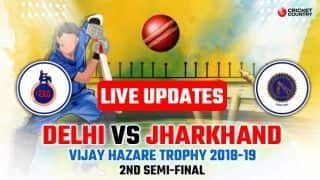 Vijay Hazare Trophy 2018-19 2nd Semi-final LIVE: Pawan Negi stars as Delhi book summit clash with Mumbai