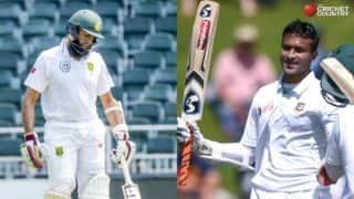 Hashim Amla, JP Duminy and Shakib Al Hasan attain career best rankings in Tests