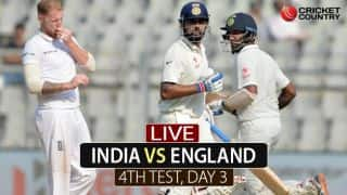 Live Cricket Score, India vs England, 4th Test, Day 3 at Mumbai; Kohli, Vijay complete fifty partnership