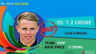 IPL Auction 2019: Sam Curran highest overseas cricketer with Rs 7.20 price tag