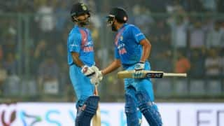 Shikhar Dhawan, Rohit Sharma obliterate New Zealand bowlers in 1st T20I; India to defend 202