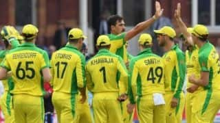 Match highlights, ICC Cricket World Cup 2019 Match 32: Finch, Starc, Behrendorff star as Australia beat England to reach semifinals