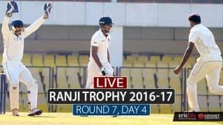 Live Cricket Score Ranji Trophy 2016-17, Day 3, Round 7