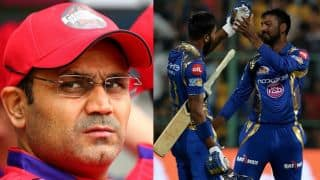IPL 2017: Virender Sehwag steps in to solve Twitter spat between Hardik Pandya and Krunal Pandya