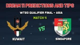 Dream11 Team Kuwait vs Singapore Match 4  WORLD T20 QUALIFIER - ASIA  – Cricket Prediction Tips For Today's  Match KUW vs SIN at Singapore