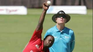 Utseya's hat-trick bundles South Africa out for 231