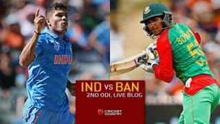Live Cricket Score India vs Bangladesh 2015, 2nd ODI at Dhaka, BAN 200/4 in 37.5 Overs: Bangladesh win historic series against India