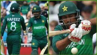 Cricket World Cup 2019: Hafeez, Babar and Sarfaraz power Pakistan to 348/8 against England