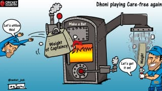 CARTOON: Dhoni playing carefree again