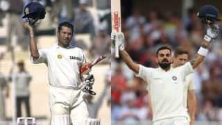Uncanny! Virat Kohli and Sachin Tendulkar both scored 103 for 58th international century against England