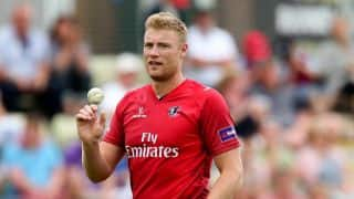 Andrew Flintoff picks up two wickets in first county match since 2009