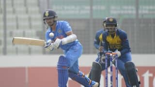Anmolpreet Singh, Sarfaraz Khan lead India to 267 for 9 against Sri Lanka in semi-final of ICC Under-19 World Cup at Dhaka