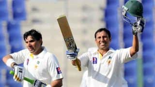 Younis Khan's ton helps Pakistan lead Sri Lanka by 47 runs at tea on Day 2 of 1st Test