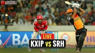 Live IPL 2017 Score, Kings XI Punjab (KXIP) vs Sunrisers Hyderabad (SRH), IPL 10, Match 33