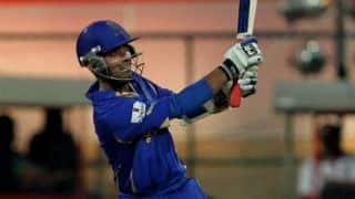 Ajinkya Rahane bowled by Imran Tahir for 47 against Delhi Daredevils in Match 6 of IPL 2015