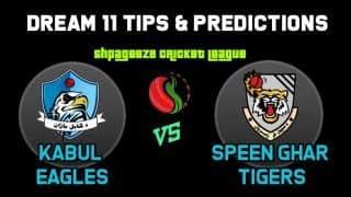 KE vs ST Dream11 Team Kabul Eagles vs Speen Ghar Tigers, Shpageeza Cricket League (SCL) 2019 – Cricket Prediction Tips For Today's Match KE vs ST at Alokozay