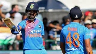 KL Rahul, Suresh Raina, Hardik Pandya guide India to 213 against Ireland