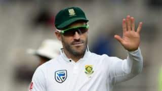 Faf du Plessis pleased following 2-0 scoreline vs India