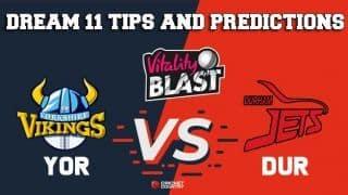Dream11 Team Yorkshire vs Durham North Group VITALITY T20 BLAST ENGLISH T20 BLAST – Cricket Prediction Tips For Today's T20 Match YOR vs DUR at Leeds