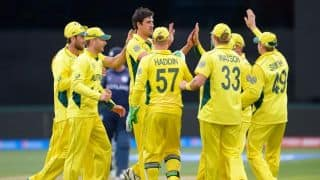 Australia vs Scotland, ICC Cricket World Cup 2015 Pool A Match 40 at Hobart