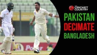Pakistan demolish Bangladesh 328 by runs, take series 1-0
