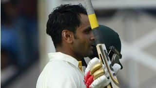 Mohammad Hafeez's 224 helps Pakistan earn 89-run lead over Bangladesh at tea on Day 3 of 1st Test at Khulna