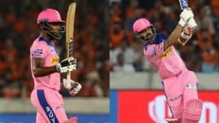Sanju Samson's hundred, Ajinkya Rahane's 70 power Rajasthan to 198 against Hyderabad