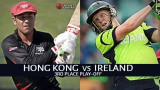 Live Cricket Score Hong Kong vs Ireland, ICC World Twenty20 Qualifier 2015, 3rd place play-off: Match washed out, IRE finish 3rd