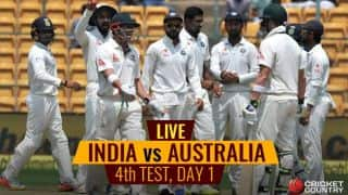 Live Cricket Score, IND vs AUS 2017, 4th Test, Day 1: Australia bowled out for 300