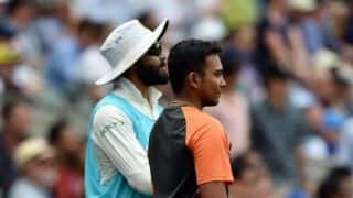 Minus crutches, Prithvi Shaw watches from Adelaide Oval sidelines