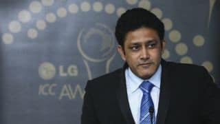 "Anil Kumble receives ""Coach of the Year"" award"