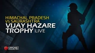 HIMACHAL 197/3 | Overs 43.2 | Live Cricket Score, Vijay Hazare Trophy 2015-16, Himachal vs Saurashtra Group D match at Rajkot: Himachal wins by 7 wickets; gets 4 points
