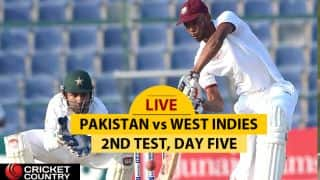 LIVE Cricket Score, Pakistan vs West Indies, 2nd Test, Day 5 at Abu Dhabi: Blackwood gets to his 50
